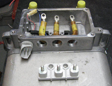 Ford siemens ev motor for Electric motor connection box